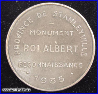 Monument Roi Albert Stanleyville bronze 50mm